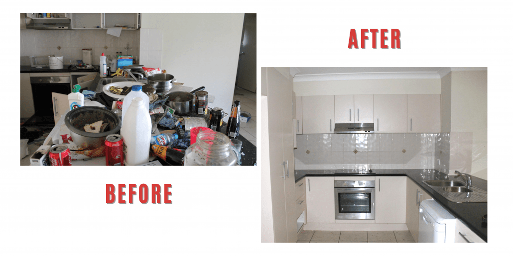 before and after hoarding cleanup